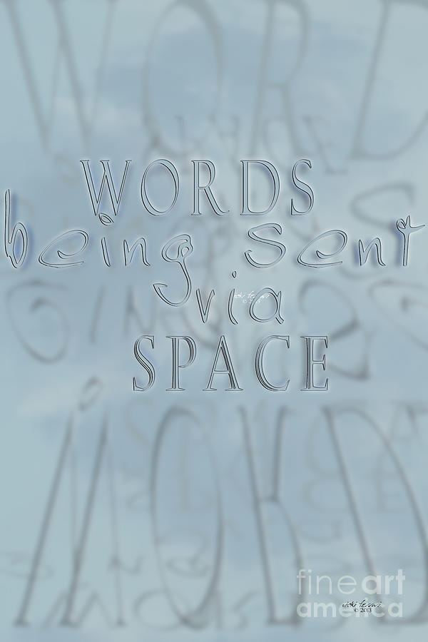 Words In Space Photograph