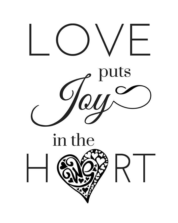 Words Of Love Quote Quotation Phrase Joy Home Decor Black ...
