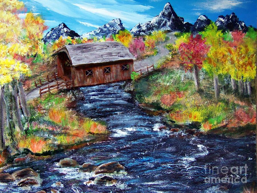 Work In Progress-covered Bridge Painting