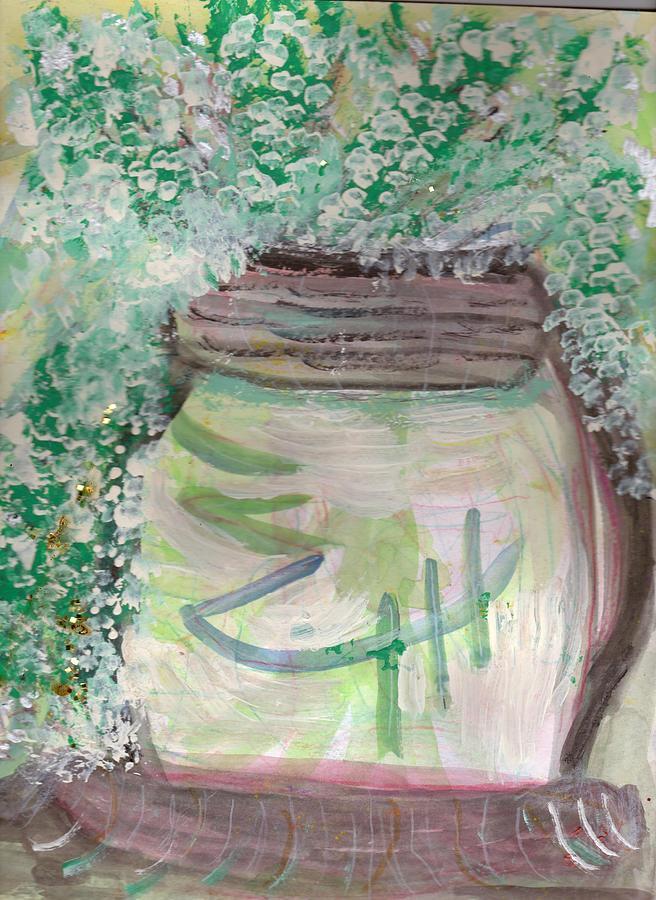 Work In Progress Whimsy Jar Painting