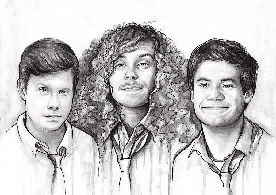 Workaholics Anders Blake Adam Painting