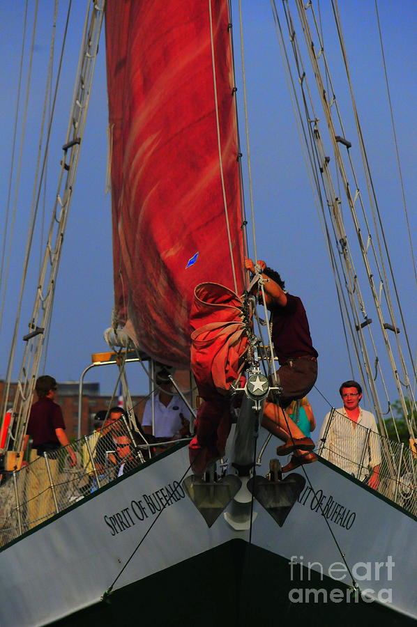 Working The Sails Photograph