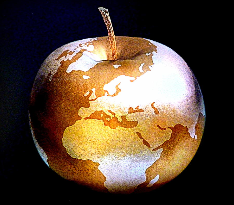 Apple Photograph - World Apple by The Creative Minds Art and Photography