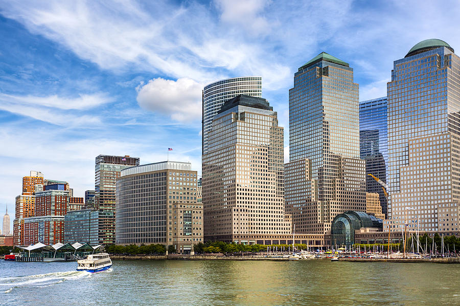 New York Photograph - World Financial Center And The Manhattan Waterfront by Mark E Tisdale