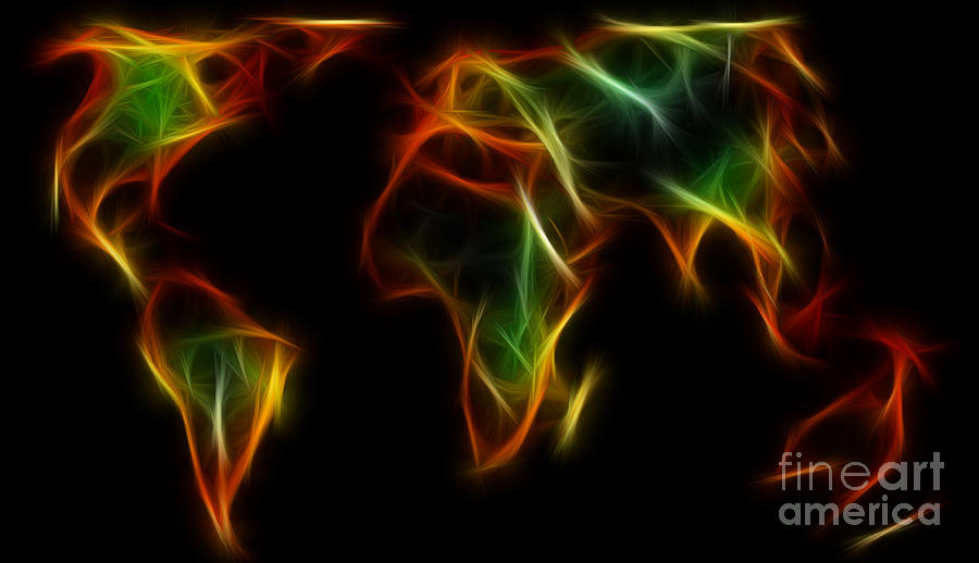 World Impressions - Abstract World Digital Art  - World Impressions - Abstract World Fine Art Print