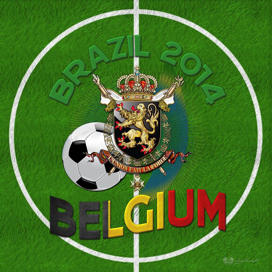 World Of Soccer 2014 - Belgium Digital Art