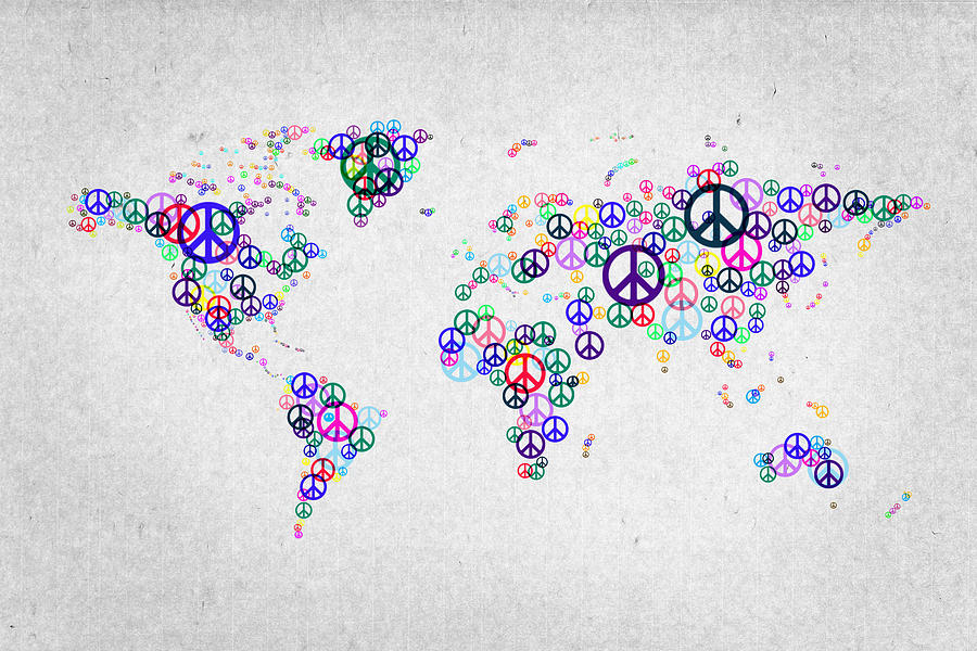 World Peace Map Digital Art