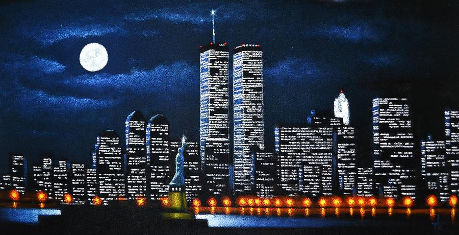 World Trade Center Buildings Painting
