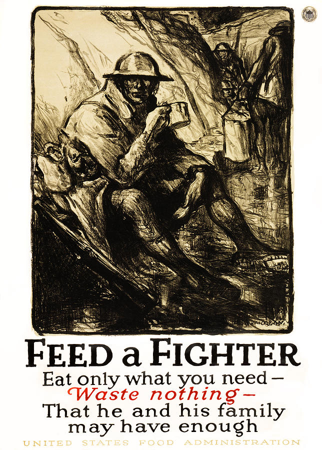 World War 1 - U. S. War Poster Photograph  - World War 1 - U. S. War Poster Fine Art Print
