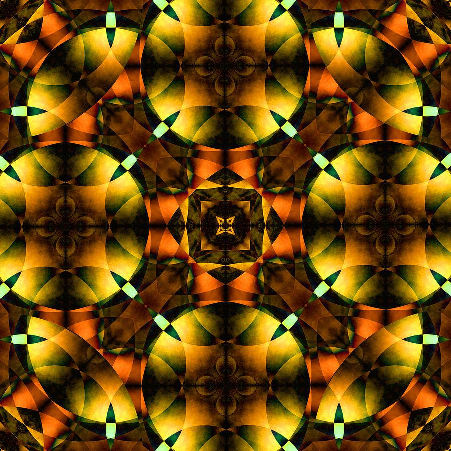 Square Digital Art - Worlds Collide 21 by Mike McGlothlen