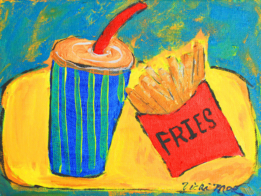 Would You Like Fries With That? Painting  - Would You Like Fries With That? Fine Art Print