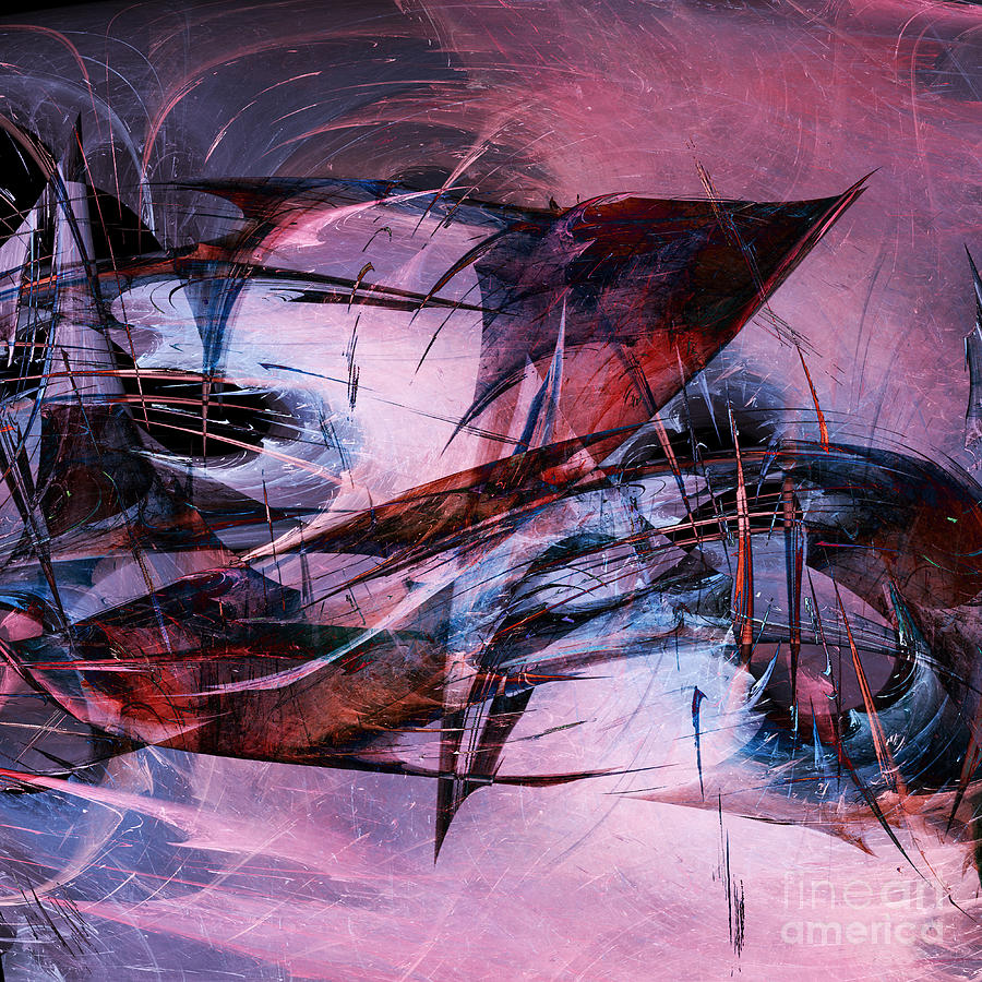 Wounded Sharks Digital Art