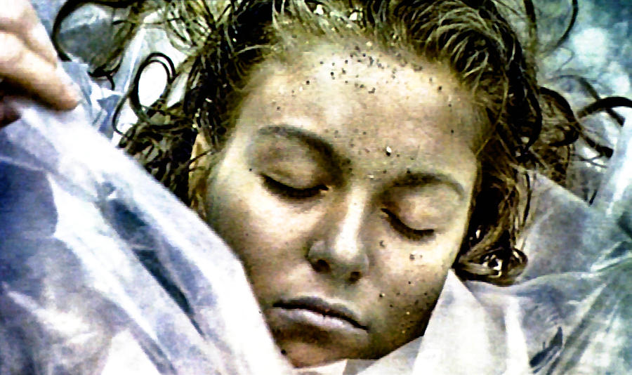 Laura Palmer Painting - Wrapped In Plastic by Luis Ludzska