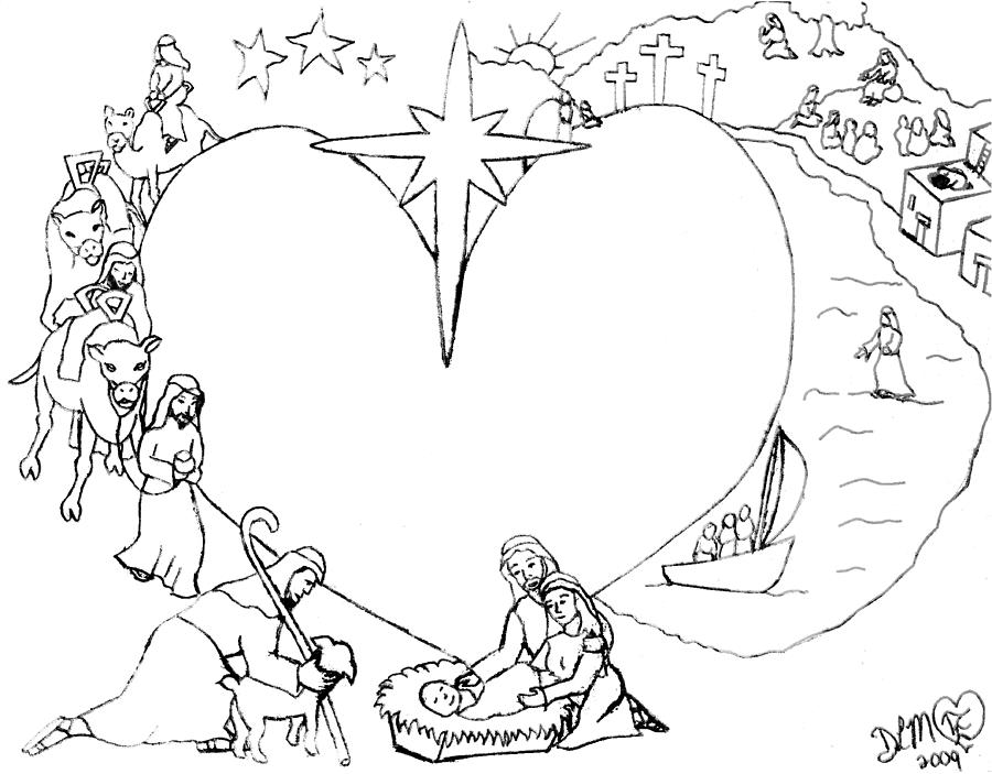 Bible Stories Drawing - Wrapped In The Arms Of His Love by Dawna Morton
