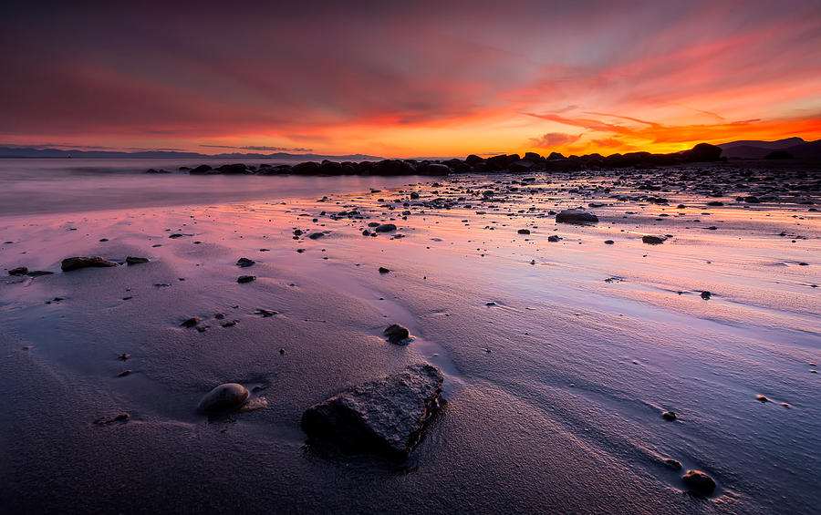 Wreck Beach Sunset Photograph