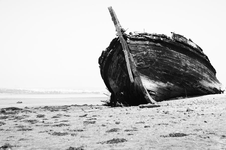 Wreckage On The Bay Photograph