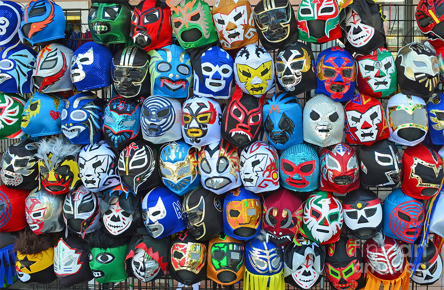 Wrestling Masks Of Lucha Libre Photograph  - Wrestling Masks Of Lucha Libre Fine Art Print
