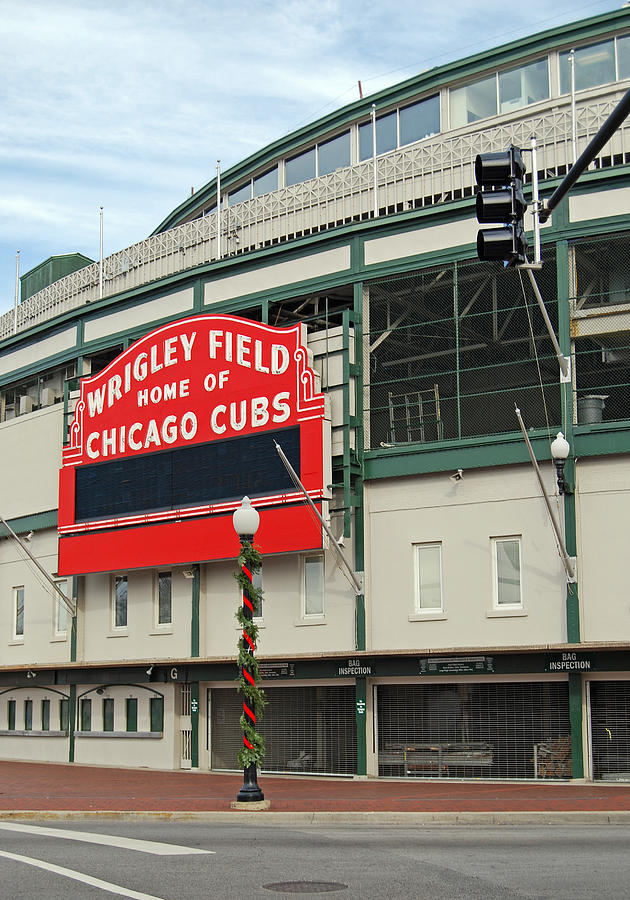 Wrigley Field Photograph - Wrigley Field by Skip Willits