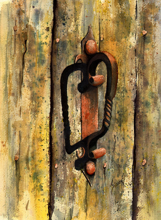 Wrought Iron Handle Painting