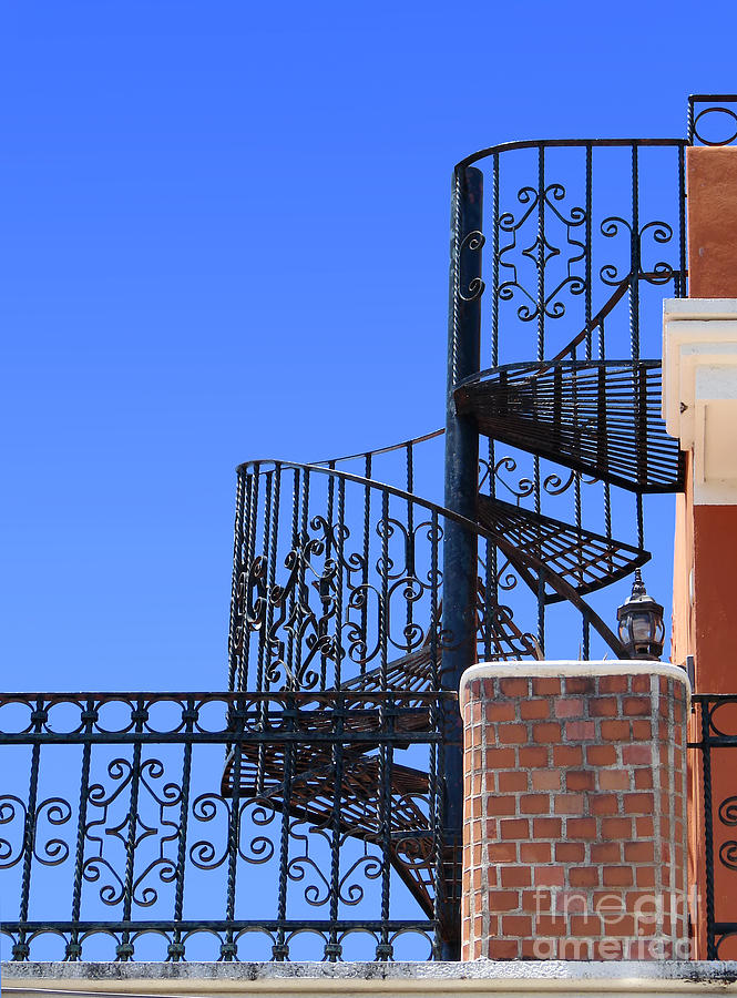 Wrought iron spiral staircase photograph by sylvie bouchard - Spiral staircase wrought iron ...