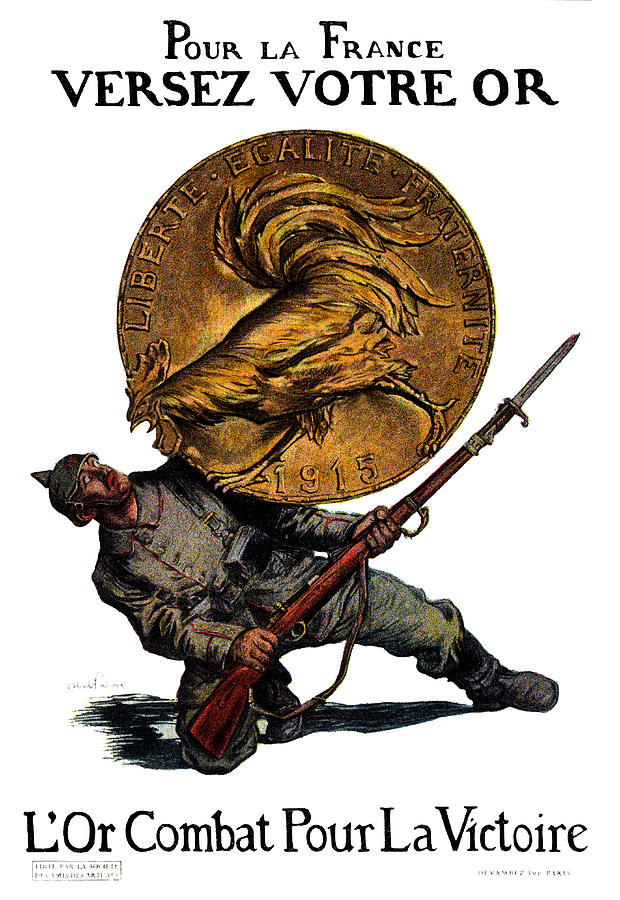 Wwi Gold For French Victory Painting  - Wwi Gold For French Victory Fine Art Print