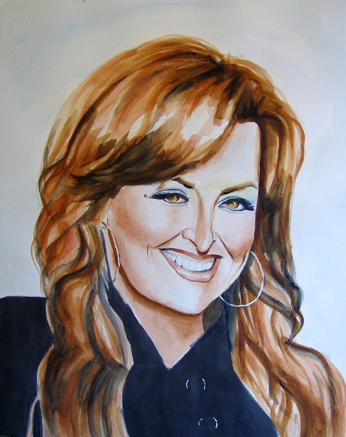 Bridesmaids Movie Painting - Wynonna Judd by Brian Degnon