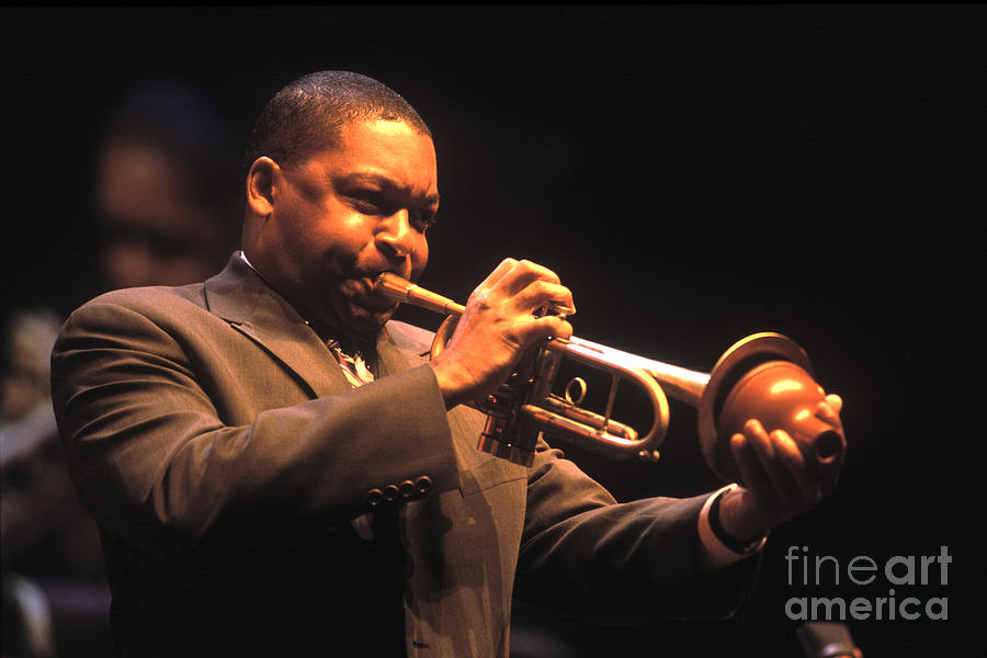 Wynton Marsalis Plays Trumpet At The Monterey Jazz Festival Photograph - Wynton Marsalis by Craig Lovell