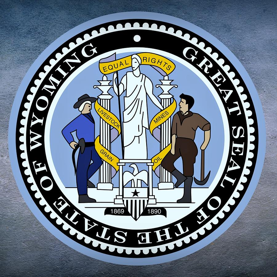 Wyoming State Seal Digital Art