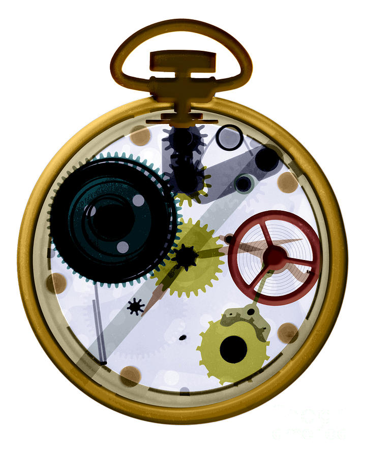 X-ray Of A Pocket Watch Photograph