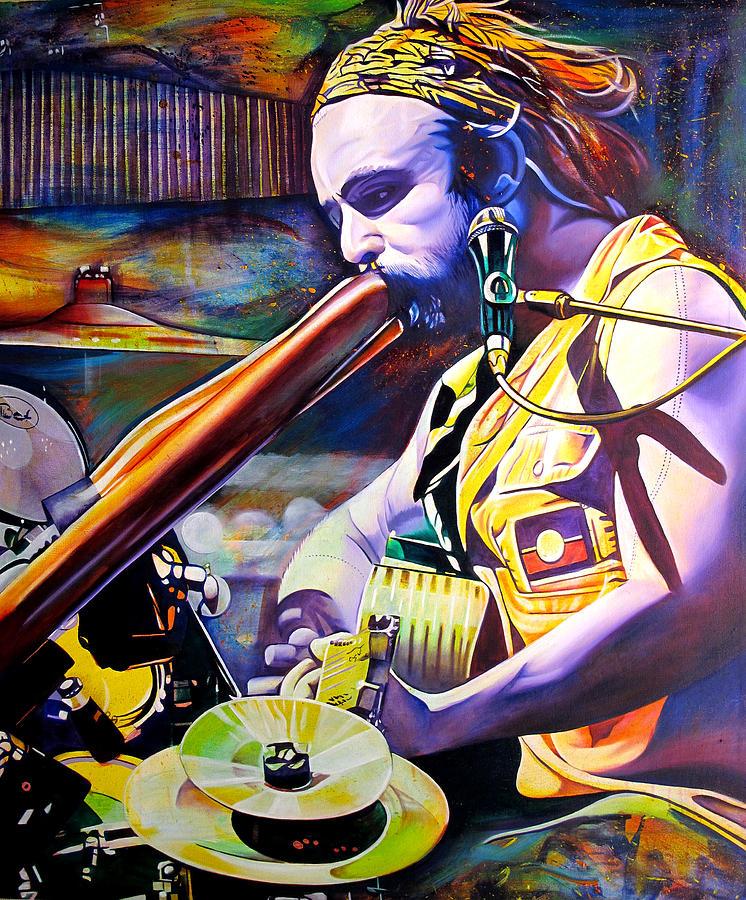Xavier Rudd Painting - Xavier Rudd by Joshua Morton