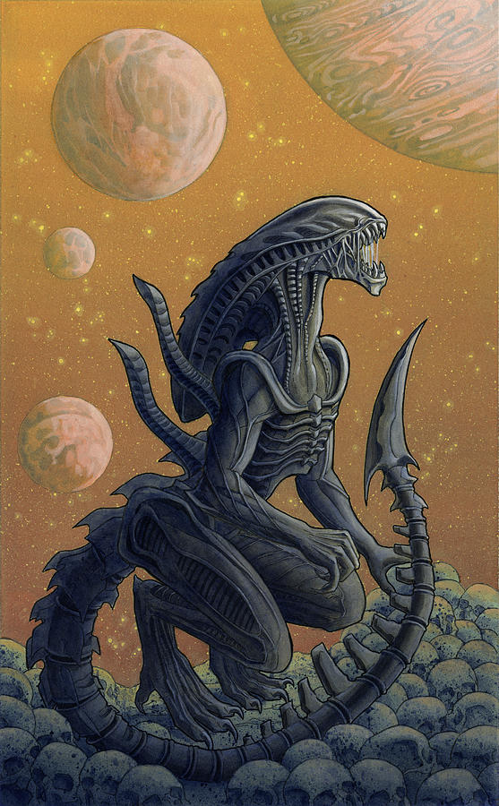 Xenomorph Joe Painting  - Xenomorph Joe Fine Art Print
