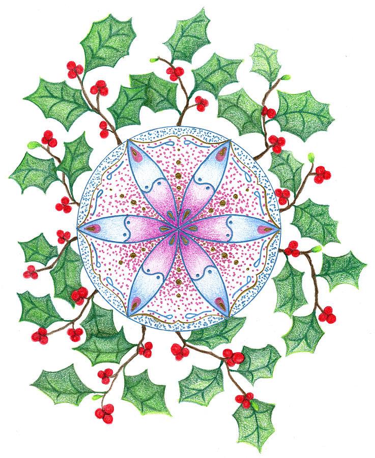 Xmas Wreath Drawing