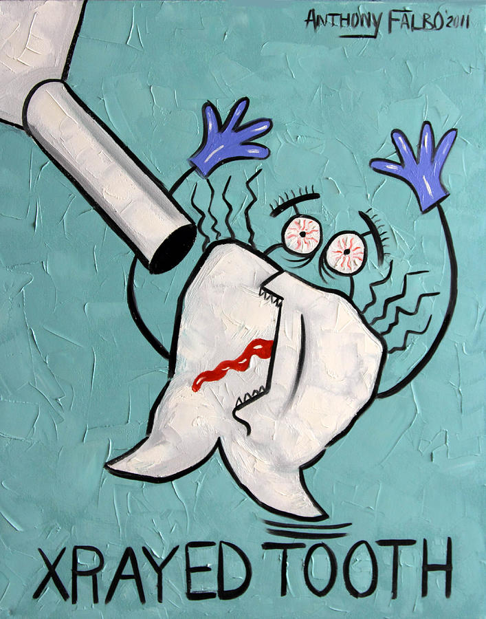 Xrayed Tooth Painting