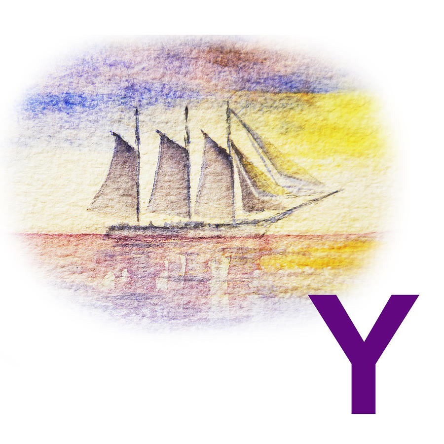 Y Art Alphabet For Kids Room Painting