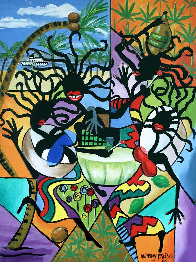 Ya Mon Framed Prints Painting - Ya Mon by Anthony Falbo