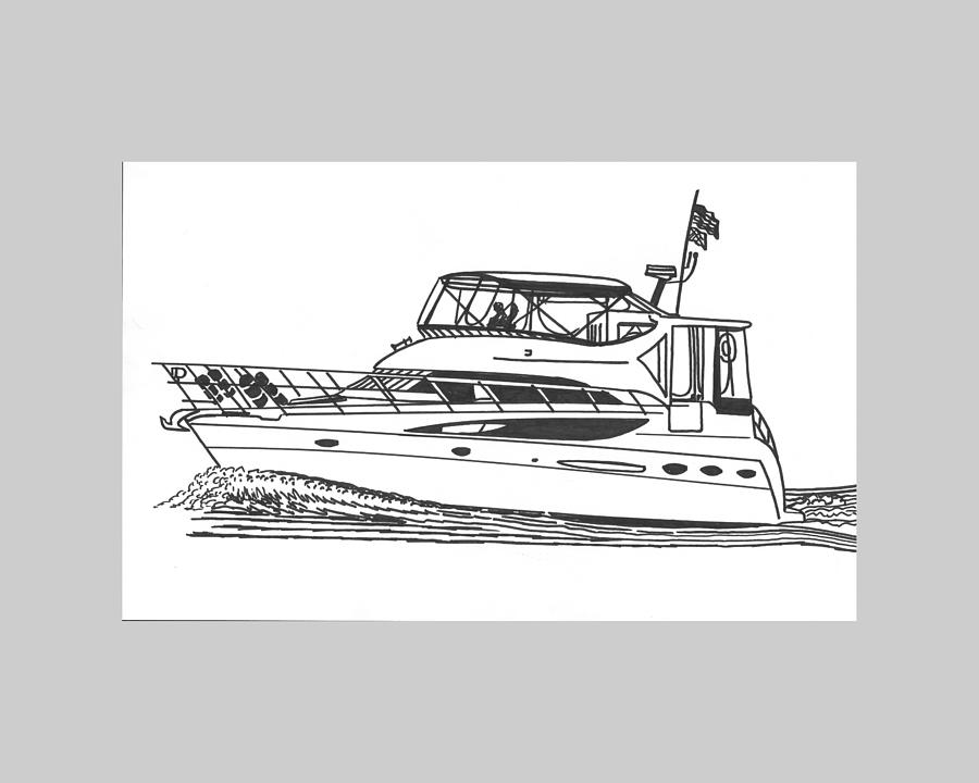 Yacht Portraits Drawing - Yachting Good Times by Jack Pumphrey