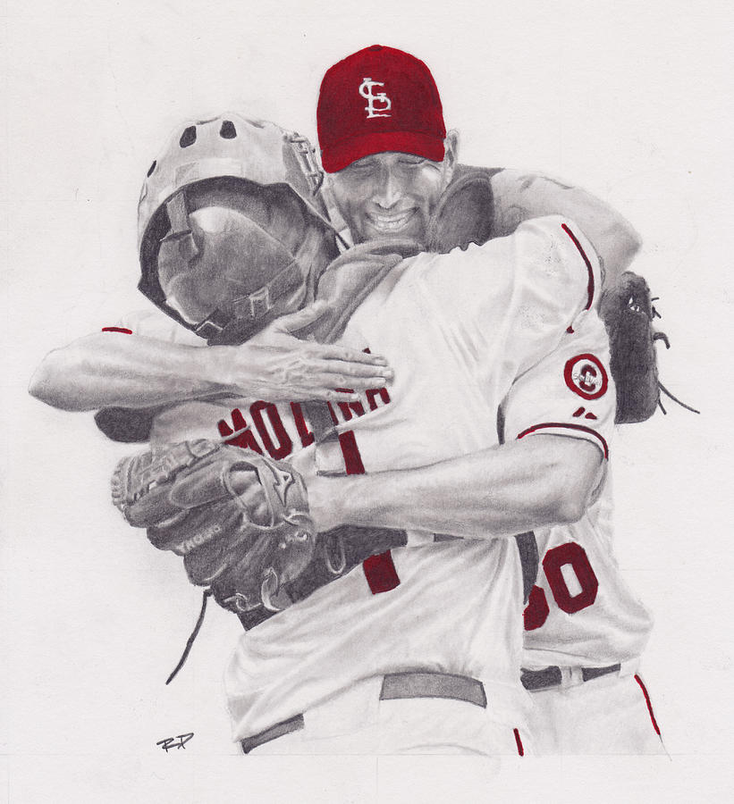 Yadi And Waino Drawing
