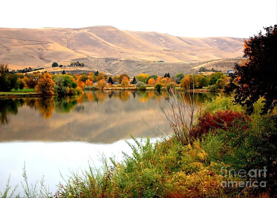 Yakima River Autumn Photograph  - Yakima River Autumn Fine Art Print