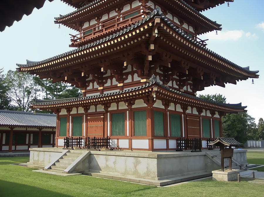 Yakushi-ji Temple West Pagoda - Nara Japan Photograph  - Yakushi-ji Temple West Pagoda - Nara Japan Fine Art Print