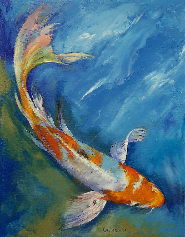 Yamato nishiki koi painting by michael creese for Koi artwork on canvas
