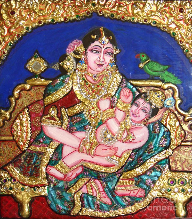 Yashoda Holding Gopala Painting