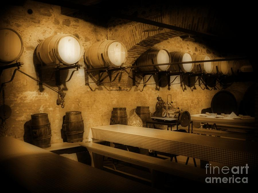 Ye Old Wine Cellar In Tuscany Photograph