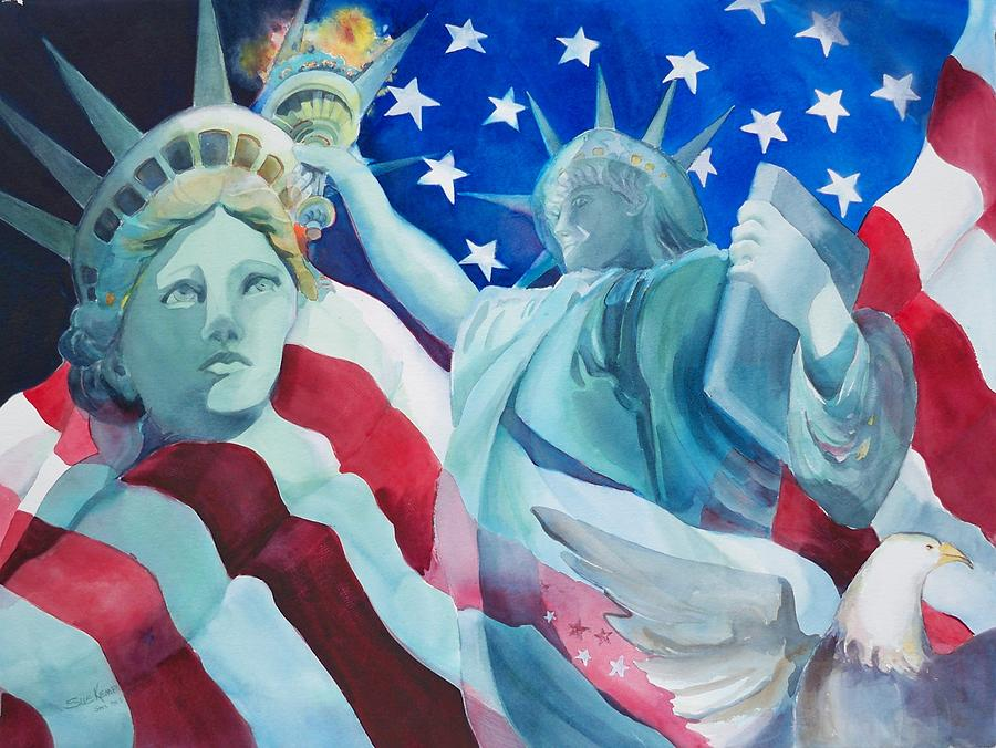 Statue Of Liberty Painting Painting - Yearning To Be Free by Sue Kemp