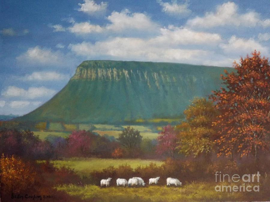 Yeats Country With Benbulben Painting  - Yeats Country With Benbulben Fine Art Print