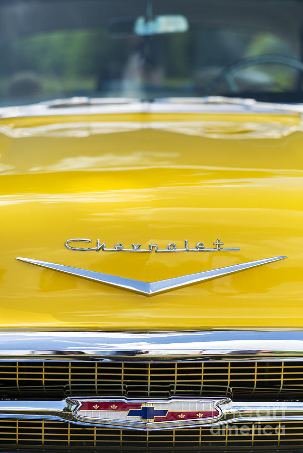 Chevrolet Photograph - Yellow 1957 Chevrolet  by Tim Gainey