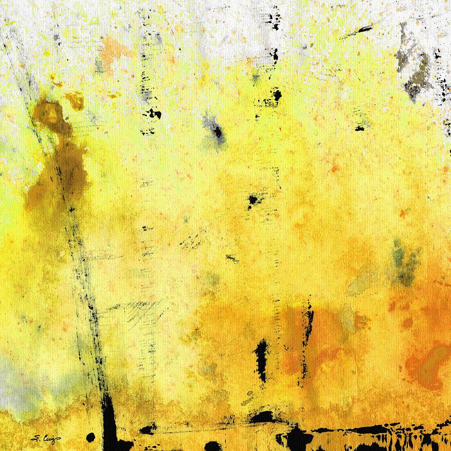 Yellow Abstract Art Lemon Haze By Sharon Cummings