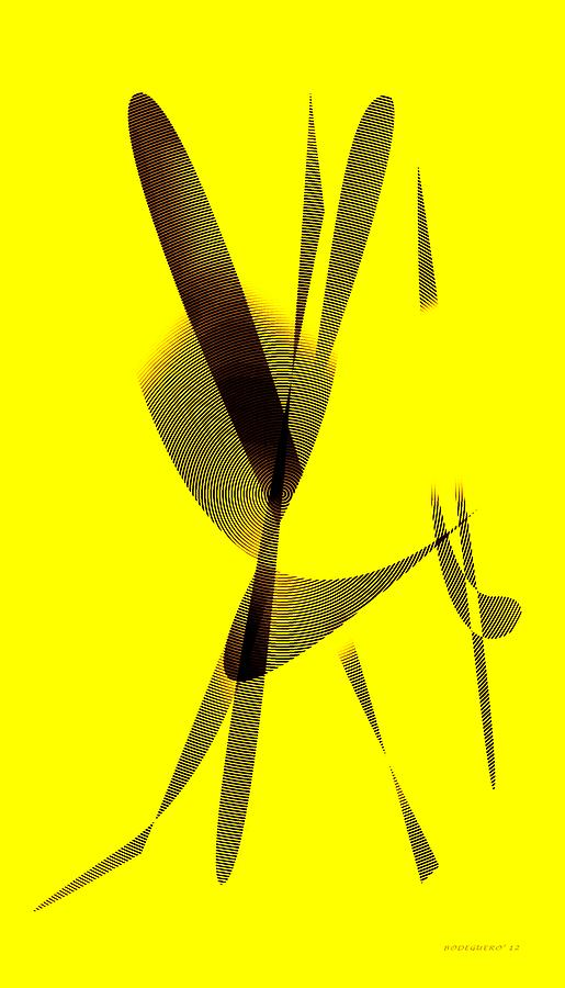 Yellow And Brown  Digital Art