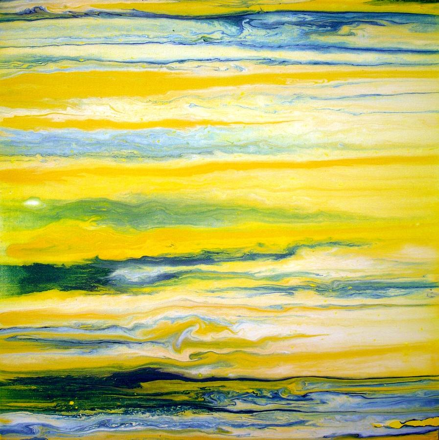 abstract yellow green drawing - photo #13