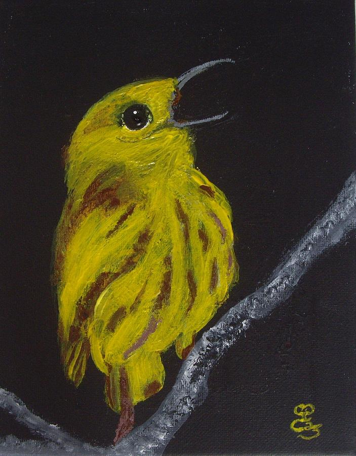 Yellow Bird Painting by Carole Robins