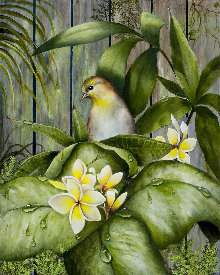 Yellow Bird Painting by Tricia Eisen